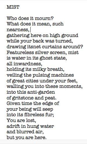 Mist by Simon Armitage
