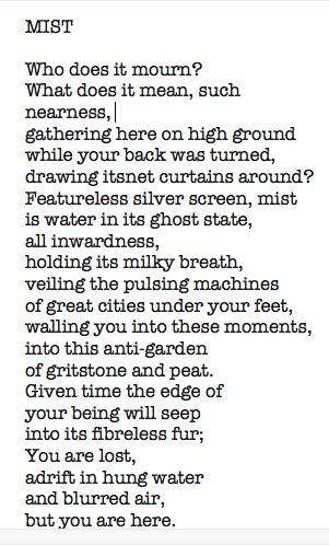Mist by Simon Armitage