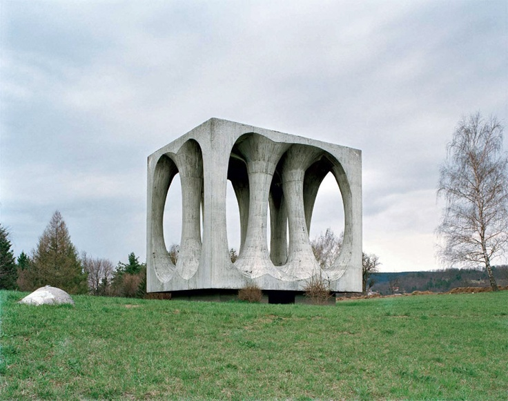"""Abandoned WWII monument on the Hrib Svobode (Freedom Hill) in the Ilirska Bistrica, Slovenia.""  Thanks to paradoxoff.com"
