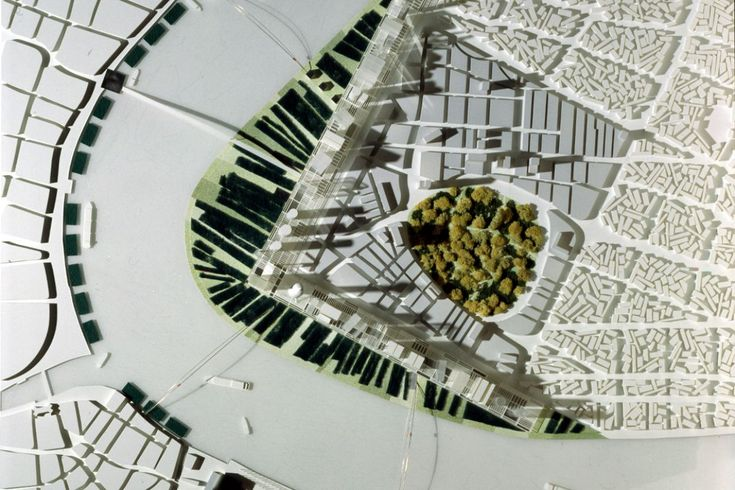 Dominique Perrault Architecture: Lu Jia Zui business centre, Shanghai (1992)