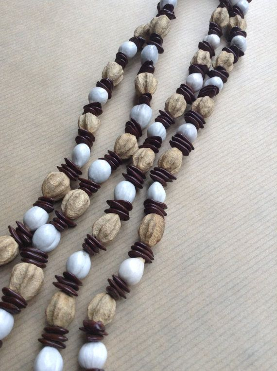 Handmade seeds necklace, Job's Tears seeds, african style, tribal, african design, unconventional, african fashion, Uganda, Christmas gifts, etsy seller