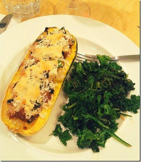 Kale, Goat Cheese, Apple & Sausage Stuffed Delicata Squash ...