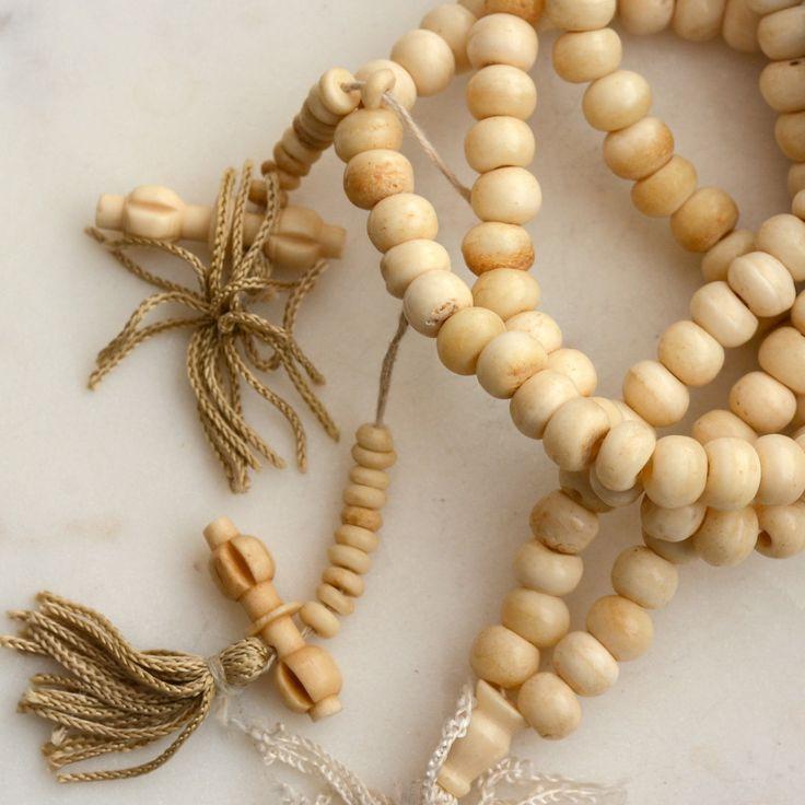 8mm Round Antiqued Bone Beads,108 Beads,Natural Bone Mala,White Bone, Rustic Beads,Ethnic Beads,Tibetan Bone Beads, Prayer Mala,LUM16-1211 by WanderlustWorldArts on Etsy