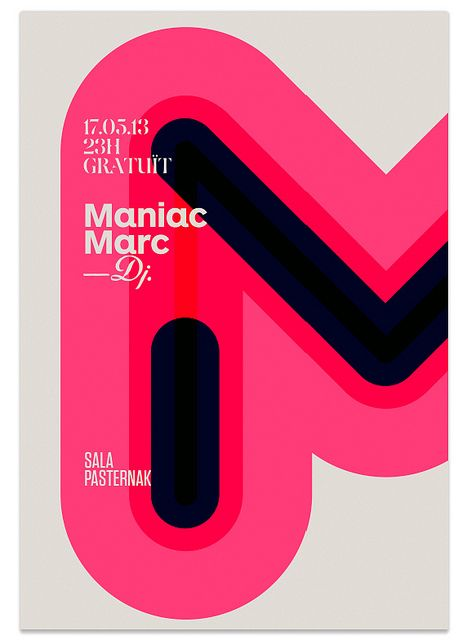 Poster Maniac Marc / quim marin