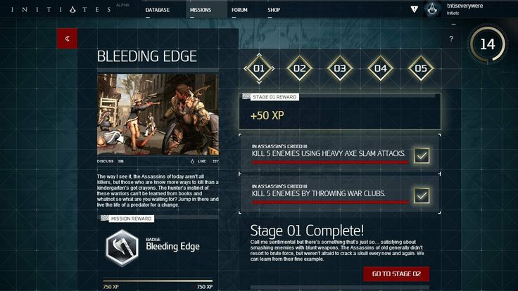 This is Stage 01 of Bleeding Edge mission in Assassin's Creed: Initiates which involves Assassin's Creed III. You can join the project at: http://acinitiates.com