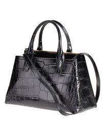 Handtasche aus echtem Leder mit Krokoprägung. #madeleinefashion