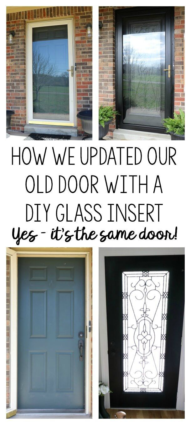 Brightening Our Entryway For Spring With A Diy Glass Door Insert Exterior Doors With Glass Diy Door Front Doors With Windows