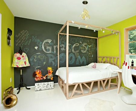 Chalkboard Paint In The Bedroom Were Ahead Of The Game Kids - Bedrooms chalkboard paint walls decor