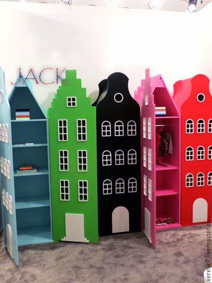 """Купить Шкафчик """"ДОМ"""" - комбинированный, шкаф, шкаф из дерева, шкаф на заказ, дом, домик"""