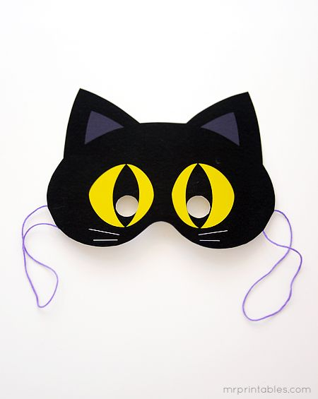 Fantastic site, with loads of printable bits and bobs. This has halloween masks, lanterns, mazes, party bags - great.    www.mrprintables.com