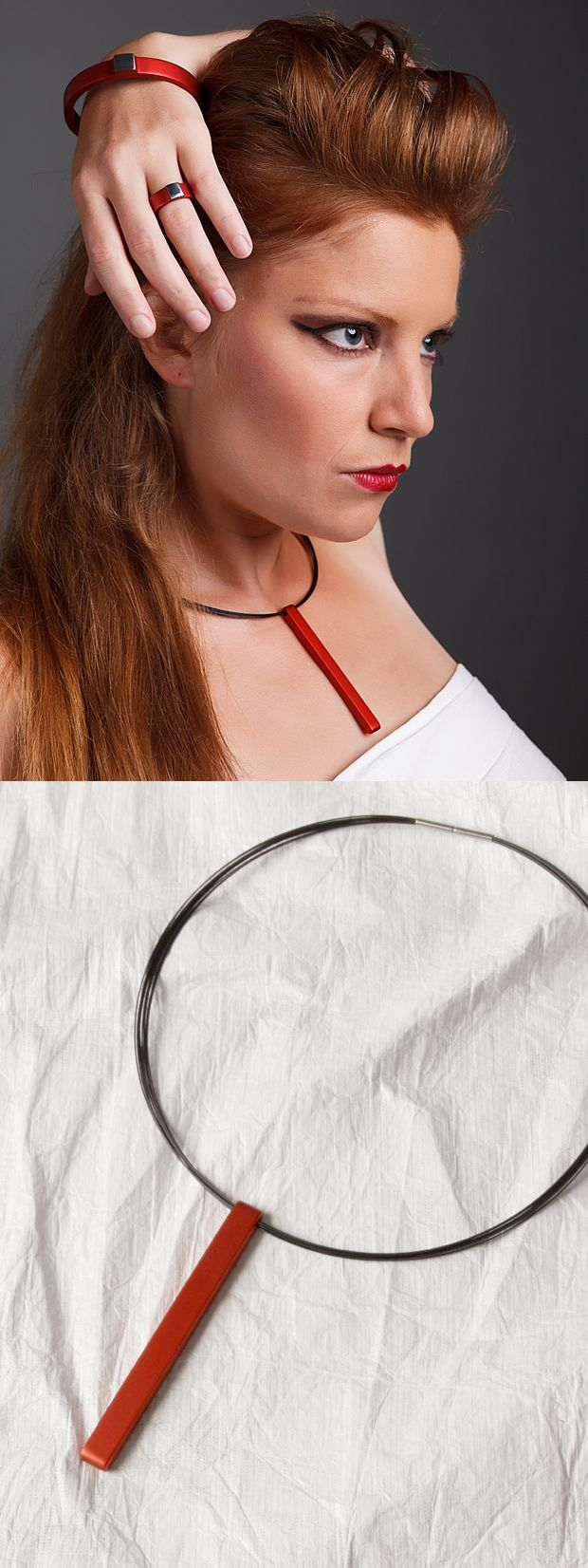 LOVE SIMPLICITY collection. Tomas Holub - minimalist jewelry made of anodized and polished aluminum. Enjoy your own piece of aluminum!