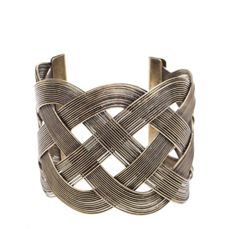 Woven metal cuff bracelet - birthday present for a friend!