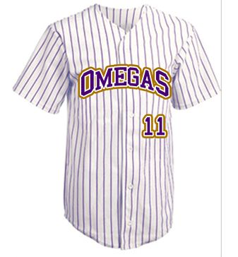 OMEGA PSI PHI |  BASEBALL GRIZZLY JERSEY