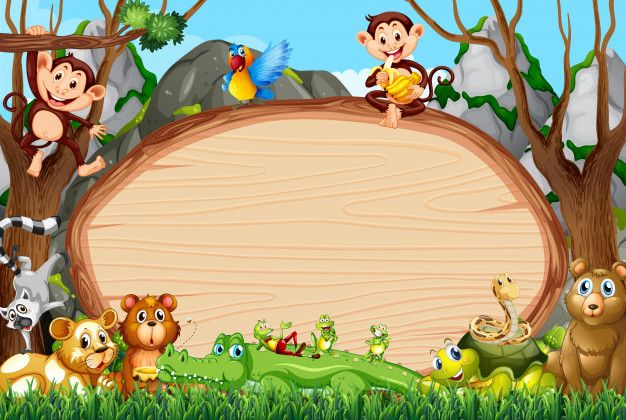 Download Border Template Design With Cute Animals For Free Cartoon Background Cute Backgrounds Border Templates
