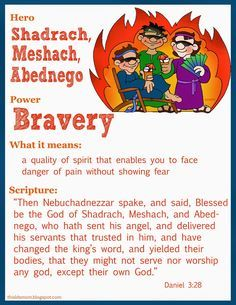 Today we talked about Shadrach, Meshach, and Abed-nego and bravery. You can download this Scripture Hero Chart  here .    My boys have ha...