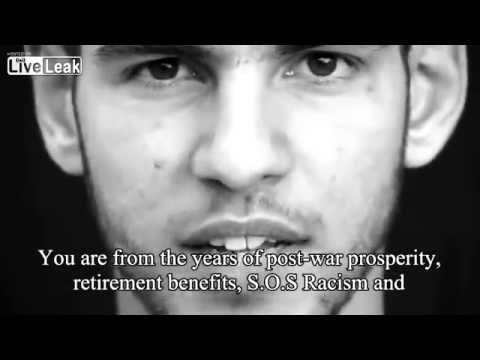 Generation Identitaire -- Declaration of War (2:32 mins) French got slaughtered by the Nazis sixty years ago and now the government is allowing islamists the same. Young people are fighting the government for their French identity.