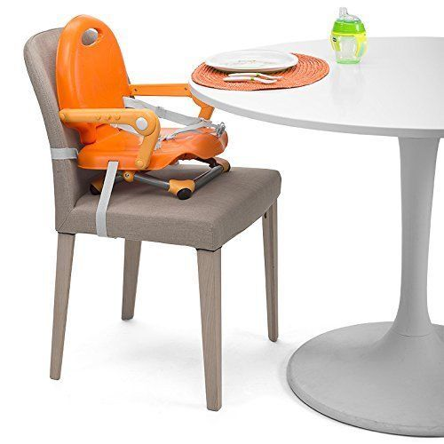 A Orange Baby Booster Seat Highchair. http://www.ebay.co.uk/itm/111999582707?ssPageName=STRK:MESELX:IT&_trksid=p3984.m1555.l2649