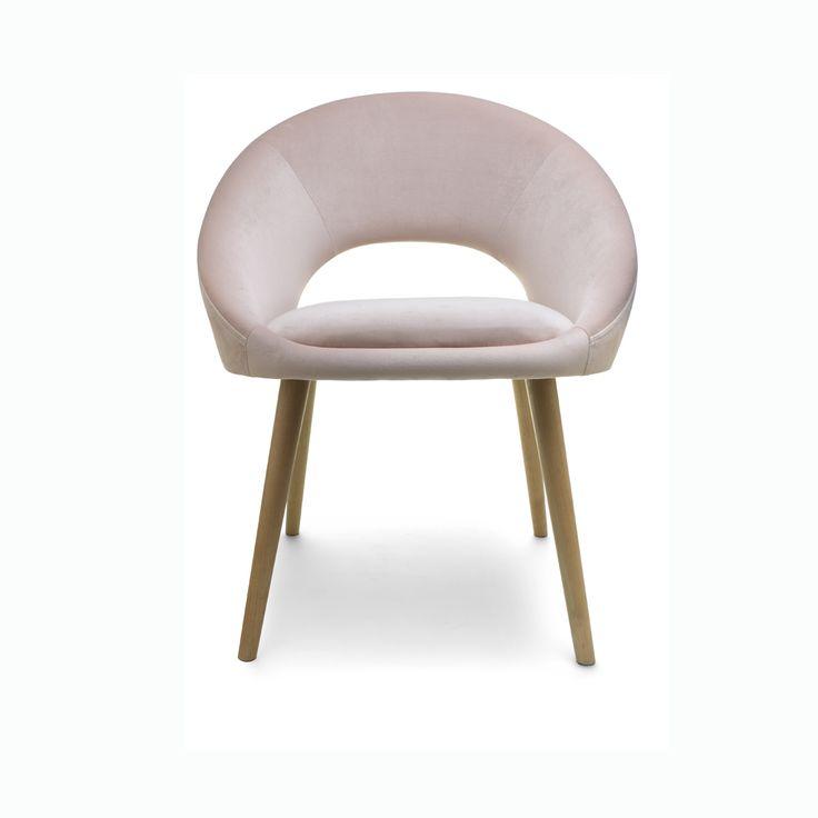 Velvet Occasional Chair - Blush   Kmart