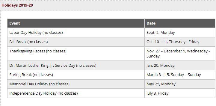 Pin On Academic Calendar