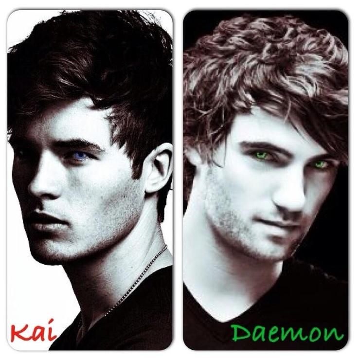 Book boyfriends Kaidan Rowe and Daemon Black