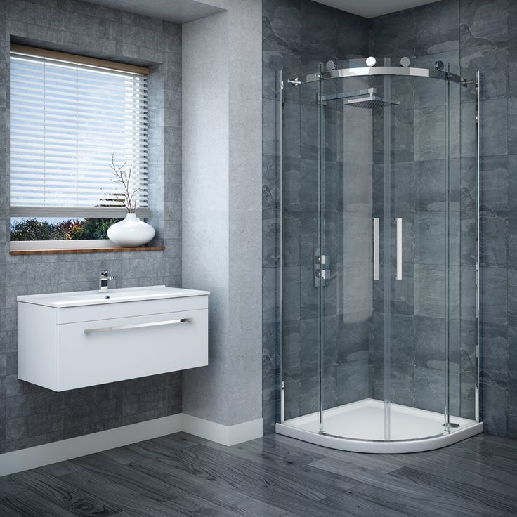 The Nova Frameless Quadrant Enclosure has a modern and minimal finish, great for contemporary showers.
