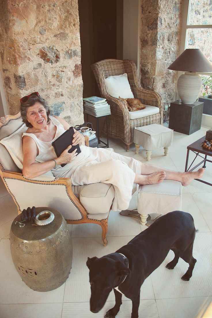 Evi Mitsopoulou at home!