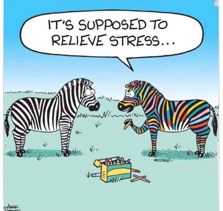 Stress Reduction Coloring Humor With Images Stress Quotes