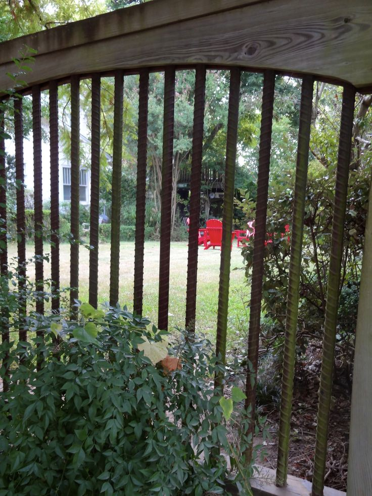 Wood Framed Fence With Rebar Field Fences Pinterest