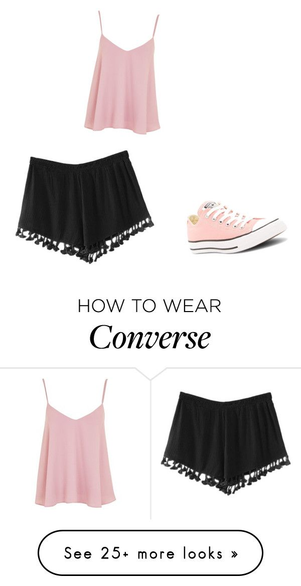 """""""Baby Pink"""" by magellangirl on Polyvore featuring Converse and Topshop"""