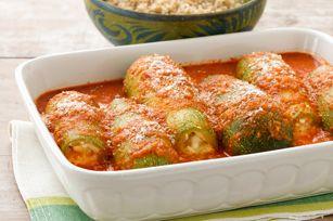 Three-Cheese-Stuffed Zucchini recipe 8 ww pts