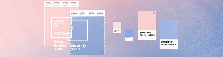Pantone's Color of 2016 is actually two colors: Rose Quartz and Serenity.