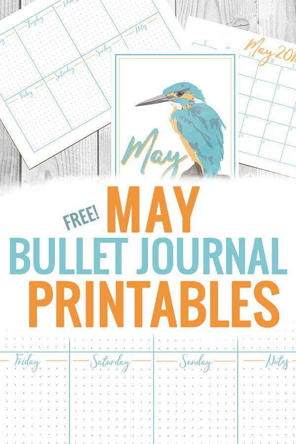 May Bullet Journal Printables Free Planners Printables And