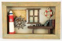 """Tablou Decorativ 3D cu Tema Nautica, 9 x 25 x 17 cm Colecția """"I Love Home - Mici Obiecte Decorative"""" îți aduce câteva obiecte decorative, vaze, tăvi, statuete, rame etc, perfecte pentru un interior elegant și plin de personalitate! Vezi campania aici! #campaniisharihome http://sharihome.ro/campanie/i-love-home-mici-obiecte-decorative"""