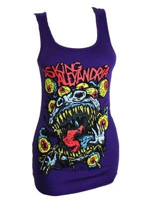 Asking Alexandria Eyeballs Ladies Vest Top. Love this, but not enough to spend $25 dollars for it