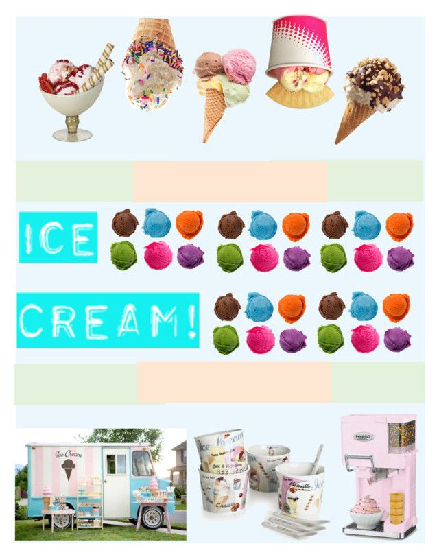 """""""treats your self!"""" by littlelook on Polyvore featuring interior, interiors, interior design, home, home decor, interior decorating, Post-It, Cuisinart and icecreamtreats"""