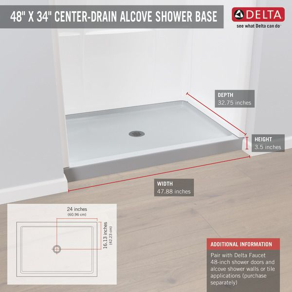 40074 Shower Base Delta Faucets