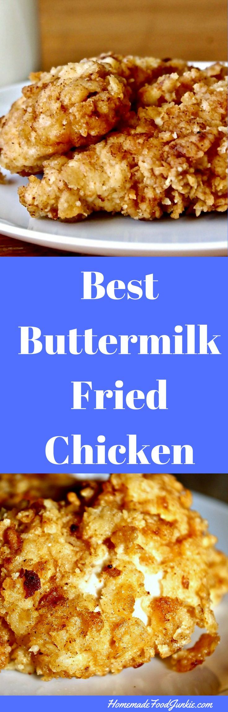 The Best Buttermilk Fried Chicken. Easy to do this family weeknight meal.