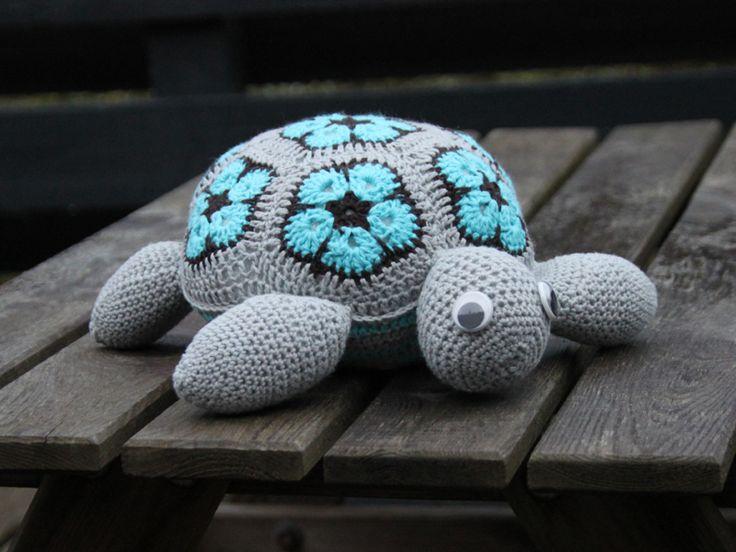 Skildpadde hækleopskrift