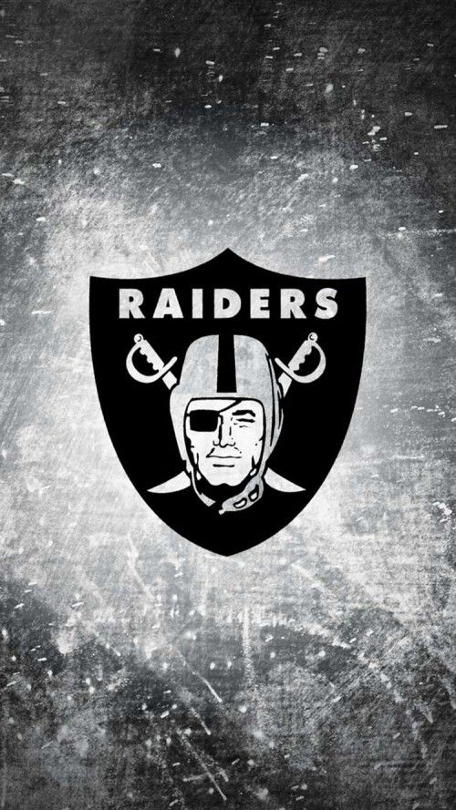 Apple iPhone 6 wallpaper with Oakland Raiders logo #oaklandraiders