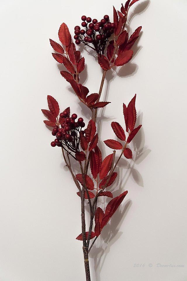 Ягодная ветка бордовая/коричневая, 80см.