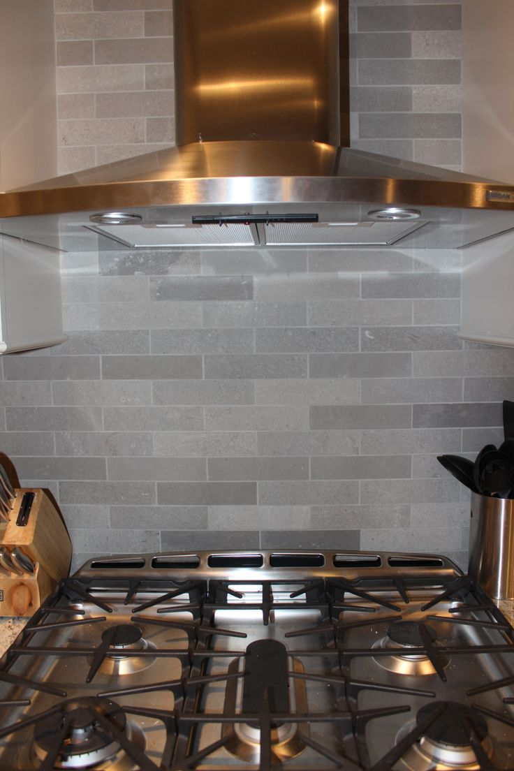 Lady Grey Brushed Stone Backsplash Home Ideas