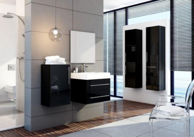 Czarne meble łazienkowe. Kolekcja Amsterdam, Aquaform