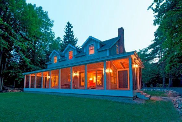 Cottage Style On Lake Champlain Yankee Barn Homes