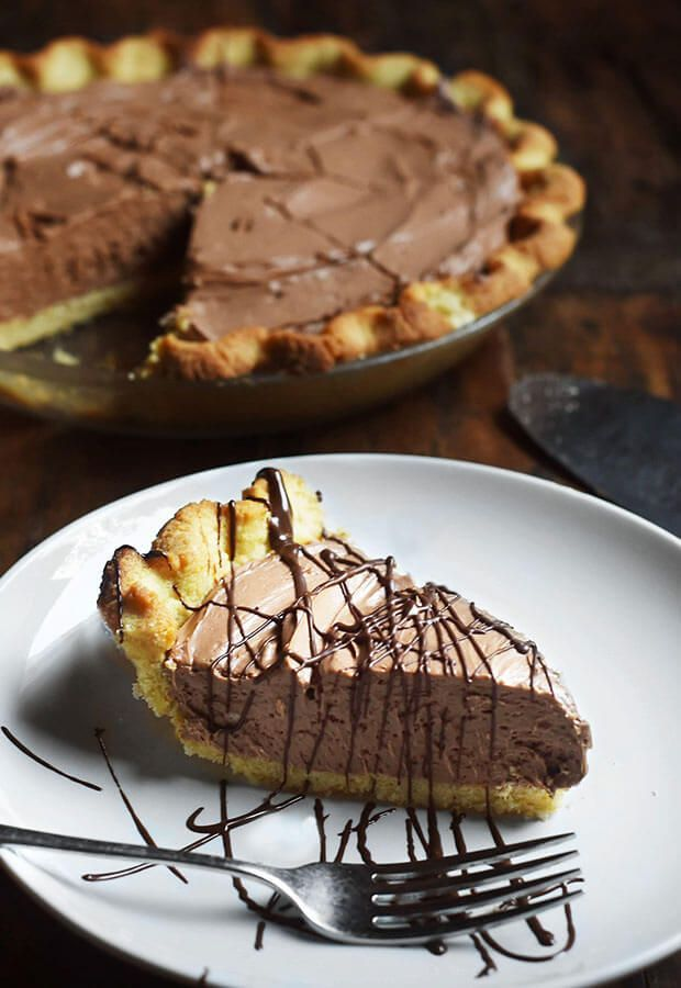 This pie is delicious! Keto chocolate silk pie is a great dessert for holidays.: