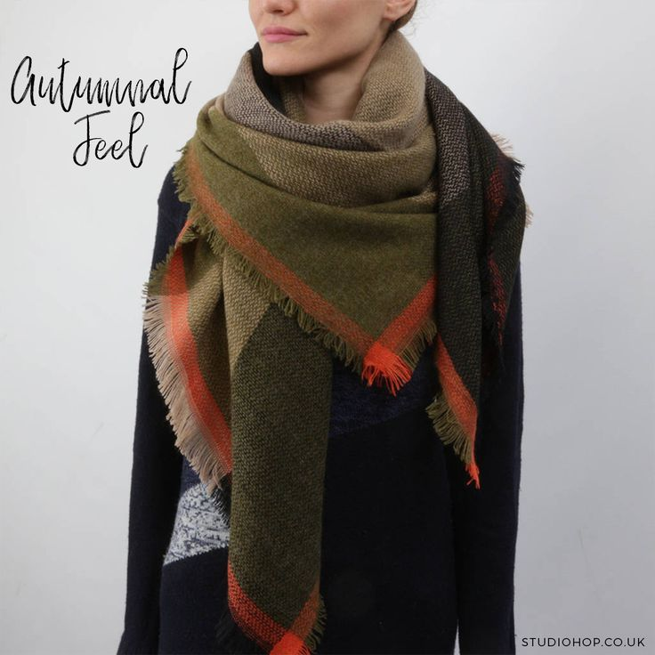 Here's one from our latest collection, and we think it's perfect for this time of year!   Have a look at our Olive and Green Check Blanket Scarf on our online shop, follow the link in the bio.  #newline #newcollection #AW17 #newstock #autumnalfeel #autumnscarves #ootd #londonbrand #londonfashion #indyfashion #local #timetowrapup #winterlook #keepwarm