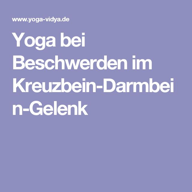 yoga bei beschwerden im kreuzbein darmbein gelenk isg. Black Bedroom Furniture Sets. Home Design Ideas