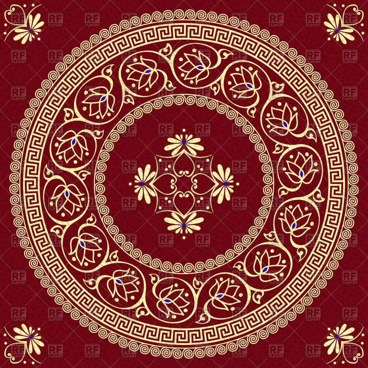 Greek Floral Pattern With Floral Pattern on a