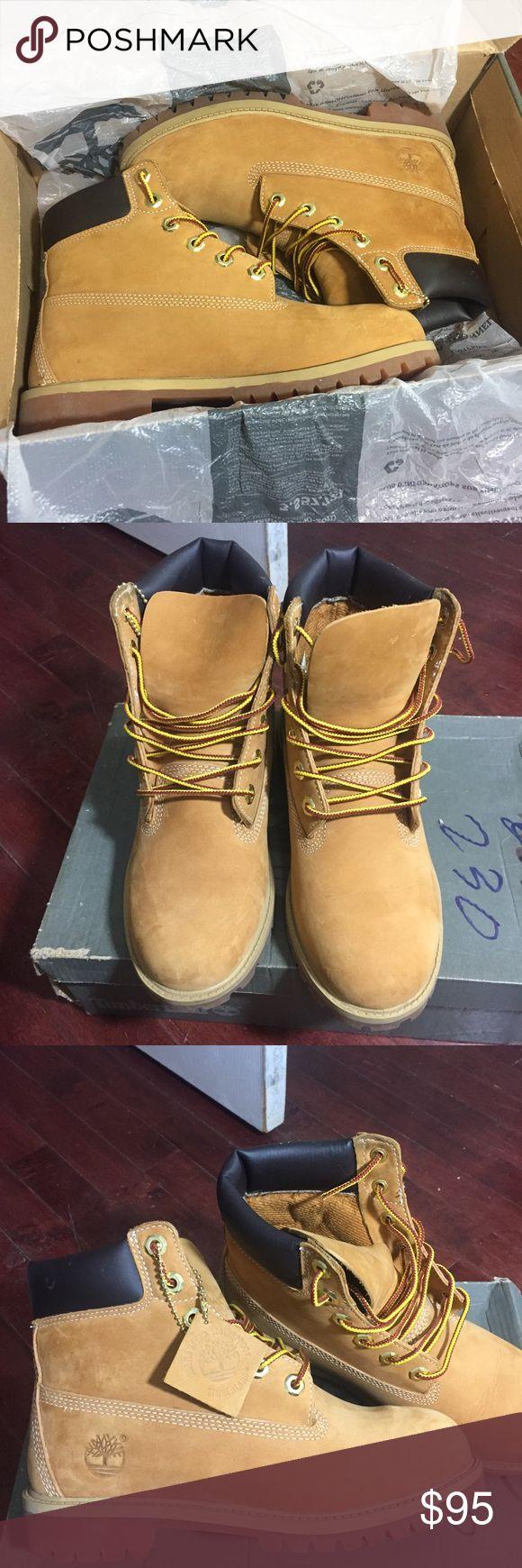 Wheat Timberland Boots Worn a few times  Like new size 4.5 kids Timberland Shoes Winter & Rain Boots