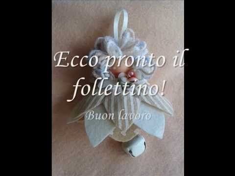 tutorial come realizzare im poche mosse un follettino in pannolenci - YouTube