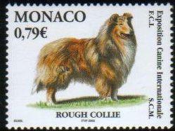 2003年モナコ公国 ラフ・コリーの切手